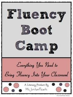 Great Activity ideas for Reading with Fluency!