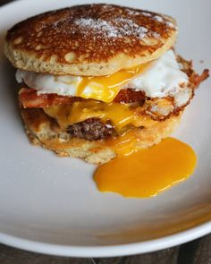 Pancake Bacon Cheeseburger