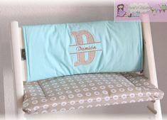 Tripp Trapp Kissen Set - muriels-nähatelier Baby Set, Bed Pillows, Pillow Cases, Atelier, Gray Fabric, Chair Pads, Light Blue, Names, Pastel