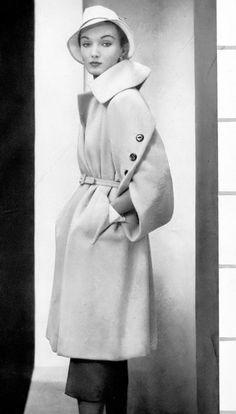 1950 Evelyn Tripp, coat by Monte Sano