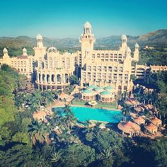 SOUTH AFRICA – The Palace of the Lost City hotel, Sun City, North West province. It's located off of the road, just outside of the the Pilanesberg Game Reserve. The film Blended ) starring Adam Sandler and Drew Barrymore was shot here. Sun City Palace, Sun City Hotel, Sun City Resort, Palace Hotel, Sun City South Africa, South Africa Safari, Places Around The World, Travel Around The World, Around The Worlds