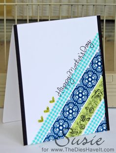 washi tape?, pattern paper will work, The Dies Have It: