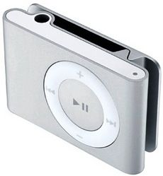 water proof ipod shuffle - Brian got me one for Christmas. Now I can swim laps while listening to a book.