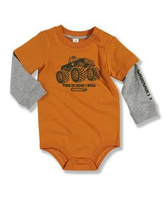 Orange Truck Layered Bodysuit - Infant