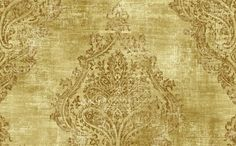 Damask Raised Print Wallpaper in Metallic and Neutrals from the Maison Gallerie Collection - Seabrook Designs