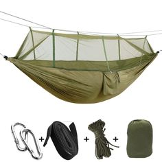 Sports & Entertainment Camping & Hiking Sensible Portable High Strength Parachute Fabric Camping Hammock Hanging Bed With Mosquito Net Sleeping Hammock