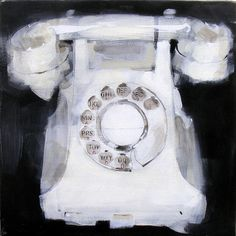 White Telephone by James Paterson Art, via Flickr