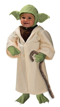 the geek in me has to dress my kid up like this.  yoda never looked so good. <3