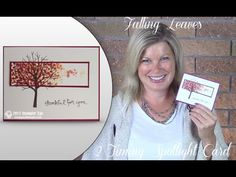 How to make this Falling Leaves 2-Timing Spotlight Card featuring Stampi...