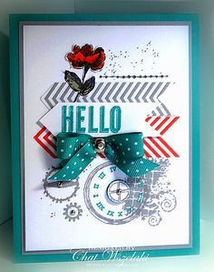 Stampin' Up Hello Card by nitestamper on Etsy