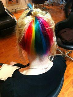 Hair colour/cut by Anya Goy http://www.rainbowhaircolour.com
