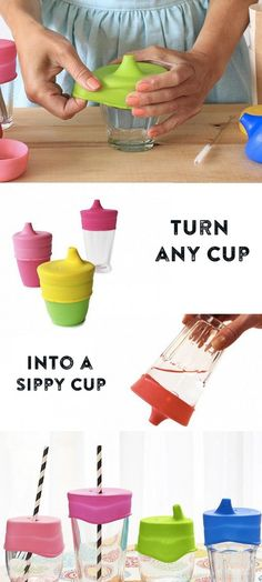 These sippy tops are great to lid for any glass or cup as it simply stretches over and grips the top of any glass. Every sippy top has an air suction on the top and it's simply great to turn any glass or cup into a sippy cup.