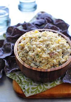 Spicy Corn + Jalapeño Cheese Dip