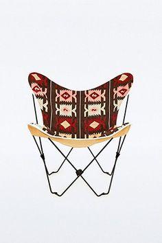 Housse à motif géométrique pour chaise papillon