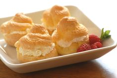 Gluten Free Cream Puffs  Impress your guests with these decadent cream puffs.  You are sure to be the hit of the party.
