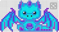 Perler bead dragon pattern