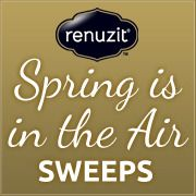 """Enter our ""Spring is in the Air"" sweepstakes!"" I entered to win. Enter today for a chance to win a $25 Gift Card to The Container Store® and a year's supply of our favorite Renuzit® spring-inspired scents to get your home looking and smelling ready for the new season."
