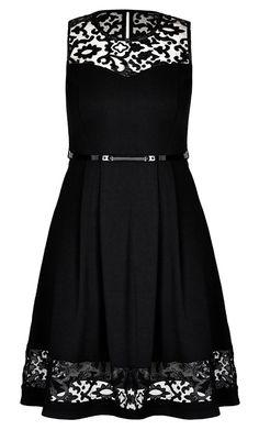 City Chic - ROCKER LACE DRESS - Women's Plus Size Fashion