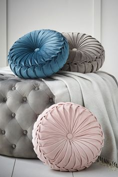 Show Less The beautiful Rosanna cushion features elegant pleats made from sumptuous velvet. Sponge clean only.