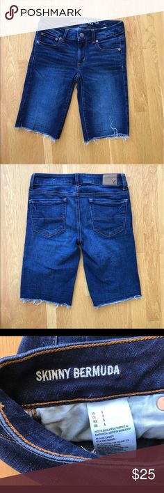 """♨️JUST IN♨️ Skinny Bermudas Washed but never worn! Super stretch. 70% cotton 16% viscose 12% polyester. Rise 7"""". Inseam (unrolled) 10"""". ❗️PRICE IS FIRM UNLESS BUNDLED ❗️ American Eagle Outfitters Shorts Bermudas"""
