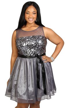 plus size illusion sequin homecoming dress