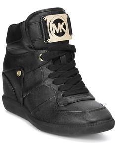 MICHAEL Michael Kors Nikko Lace-Up High-Top Wedge Sneakers - All Women's Shoes - Shoes - Macy's