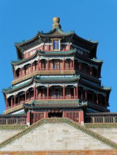 The Summer Palace, Beijing. Tower of Buddhist Incense on the Longevity Hill. Summer Palace, Liv, Old Building, Beijing, China, In This Moment, Mansions, House Styles, Asia