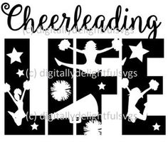 Beautiful svg files for all of your crafting needs. Cheer Coaches, Cheer Mom, Cheer Stuff, Cheer Hair, Soccer Stuff, Cheerleading Shirts, Cheerleading Stunting, Cheer Decorations, Cheer Gifts