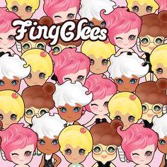 팅글리 와글와글 디자인~~ . TingGlees Smurgling~ . #tingglees #tingglee #design #character #cupcake #sweets #graphics #vector #illustration #팅글리 #와글와글 #캐릭터 #디자인 #컵케이크 #달콤한 #그래픽디자인 #일러스트