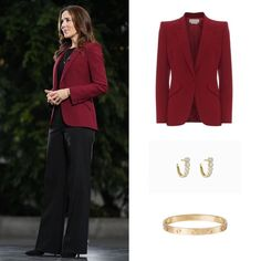 Crown Princess Mary, Royal Fashion, Denmark, New Look, Alexander Mcqueen, Police, October, Breast, Suit Jacket
