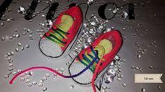 ElinorHandmade / Neonové ružové tenisky