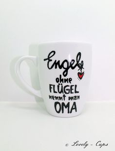 Angels without wings are called grandma - Diy Gifts Gifts For New Grandma, Grandma Mug, Anniversary Jokes, New Grandparent Gifts, Pregnancy Announcement Gifts, Cup Decorating, I Love Mom, Gifts In A Mug, Personalized Gifts