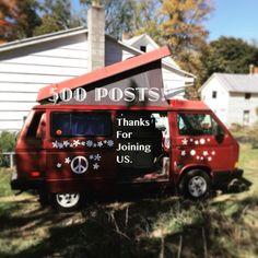 Hey - look at this old hippie van... :) #vanagon #500posts #vanagon #awesomelyweird #dadventure #momandadventure
