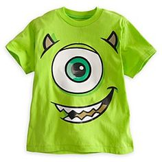 Monsters, Inc.: Mike Wazowski Tee for Boys - Deluxe Storytelling Monsters Inc Shirt, Mike From Monsters Inc, Funny Monsters, Funny Disney Shirts, Disney Shirts For Family, Shirts For Teens, Monster Inc Birthday, Monster Inc Party, Mike Wazowski Shirt