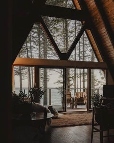 Photo by The Cabin Chronicles™ in Vancouver Island, Canada with and Image may contain: table, plant and indoor via Getaway Cabins, Lake Cabins, Cabins And Cottages, Interior Exterior, Home Interior, Interior Designing, Interior Modern, Future House, My House