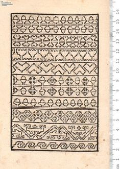 Ein new Modelbuch auff außnehen vnd borten wircken . Blackwork Patterns, Blackwork Embroidery, 16th Century Fashion, Anno Domini, Border Pattern, Book Authors, Line Drawing, Needlework, Embroidery Designs