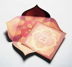 Our foil pressed lotus design in blush, peach, pink. Buddhist Wedding, Zen Wedding, Wedding Notes, Luxe Wedding, Wedding Cards, Dream Wedding, Wedding Invitation Card Design, Wedding Card Design, Wedding Designs