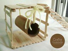Cute cardboard hamster hammock