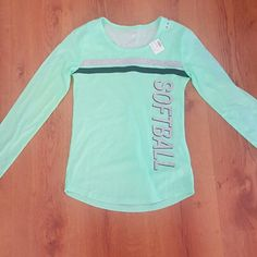 Justice Long Sleeve Softball Top NWT Justice softball top. Long sleeve. Girls size 10 Justice Other