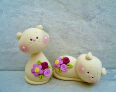 Kitty Pair - Polymer Clay - Figurines