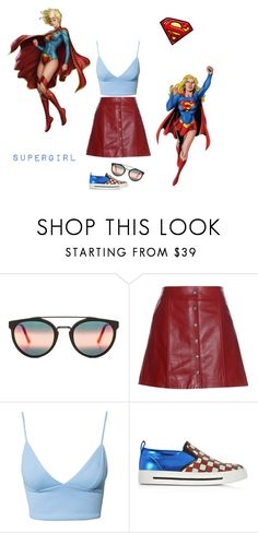 """""""Supergirl"""" by lari-xavier ❤ liked on Polyvore featuring RetroSuperFuture, Étoile Isabel Marant, Dark Pink and Marc Jacobs"""