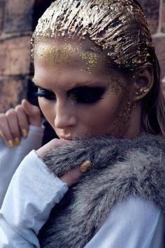 CHIC MAKEUP l gold glitter l edgy http://www.dickblick.com/items/61416-4031/?clickTracking=true=google=items=61416-4031=CNyx783CrrQCFYl7Qgodg3EALg