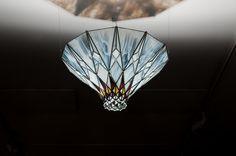 Stained glass decoration by Kordvitro. Tiffany 2.0, modern design.