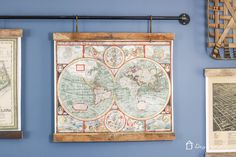 Learn how to make picture frames from reclaimed materials and hang them from pipe for a super chic and industrial look!