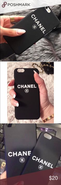 Black Chanel phone case iphone 7 plus Brand new Black Chanel phone case for iphone 7 plus. Material ; silicone rubber. No trades Accessories Phone Cases