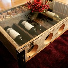 Awesome wine rack/ cork holder Coffee Table made by RYOBI Nation member RileyMeisch.