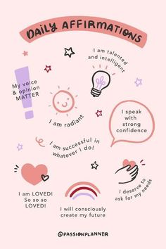 Positive Self Affirmations, Positive Affirmations Quotes, Affirmation Quotes, Morning Affirmations, Body Positive Quotes, Positive Vibes, Motivacional Quotes, Words Quotes, Life Quotes