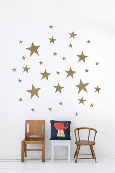 Gold Stars Wallstickers by Ferm Living @ designvintage.co.uk