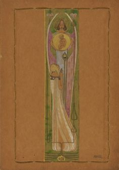 Margaret MacDonald - The Annunciation.  What a beautiful treatment of this event.