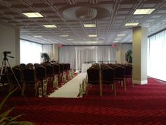 Ceremony in our Greenery Space on the 8th floor, Via @Renaissance Chicago North Shore Hotel